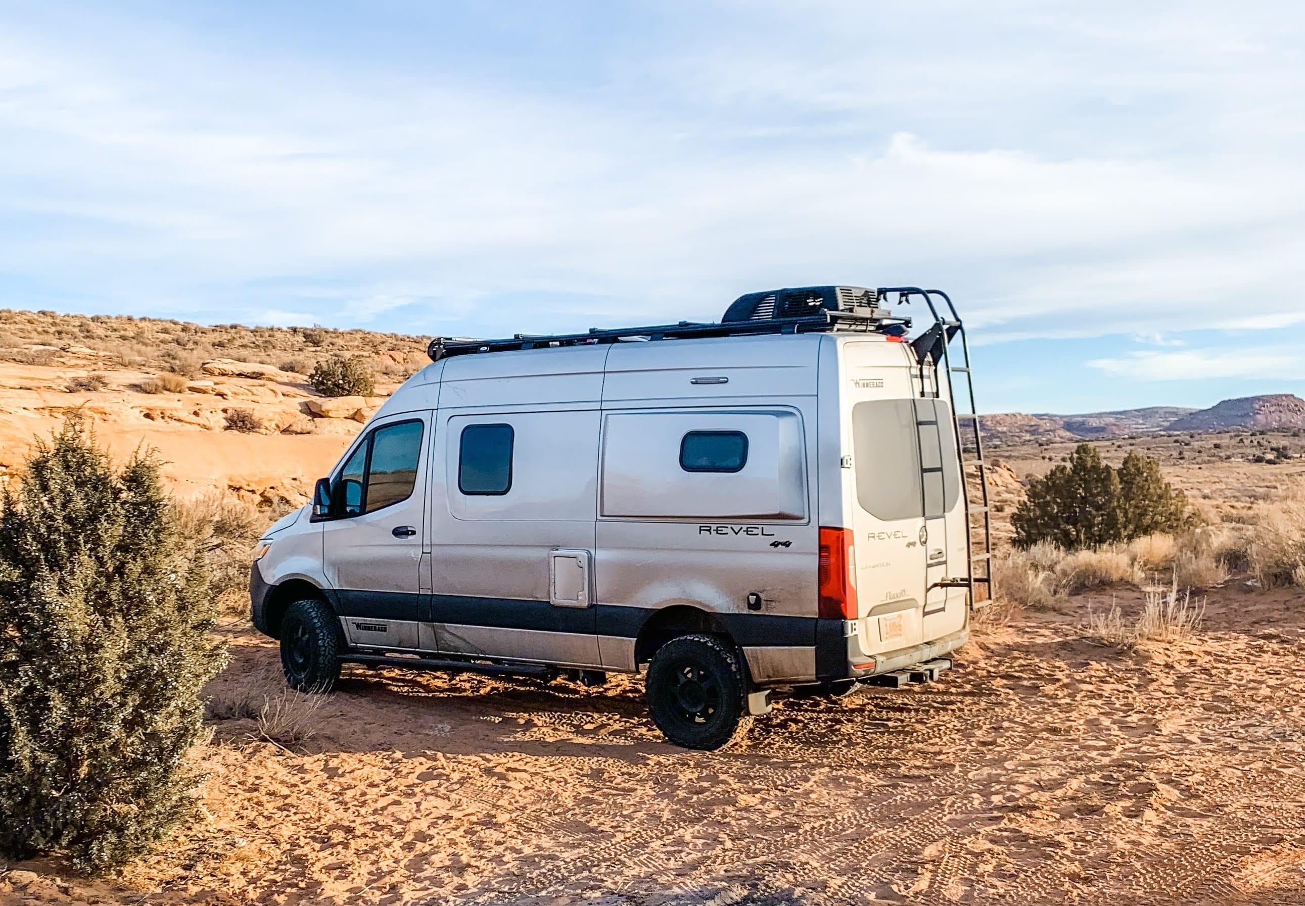 Boondocking in the Rocinante outside Moab, UT. Winnebago Revel 2021