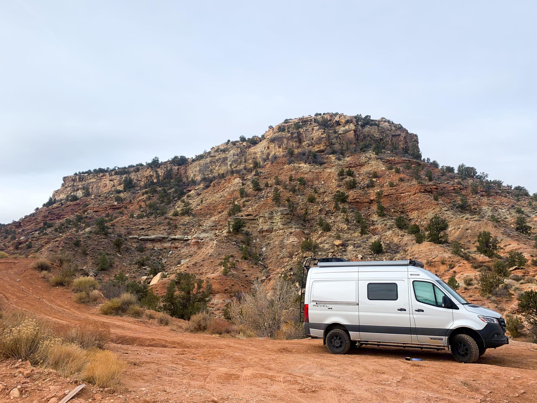Boondocking near Bryce Canyon NP. Winnebago Revel 2021