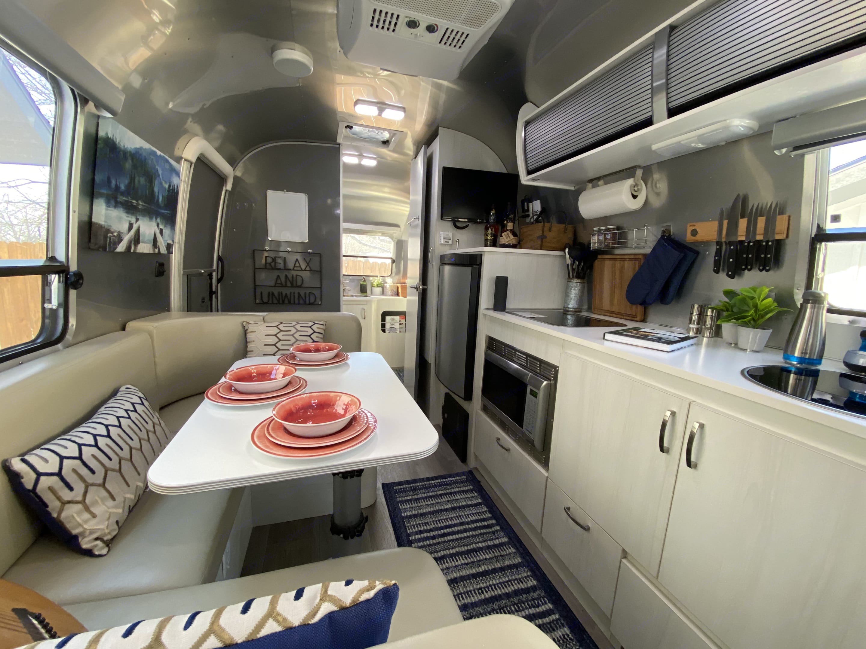View towards the rear of the Airstream.. Airstream Sport 22FB 2016