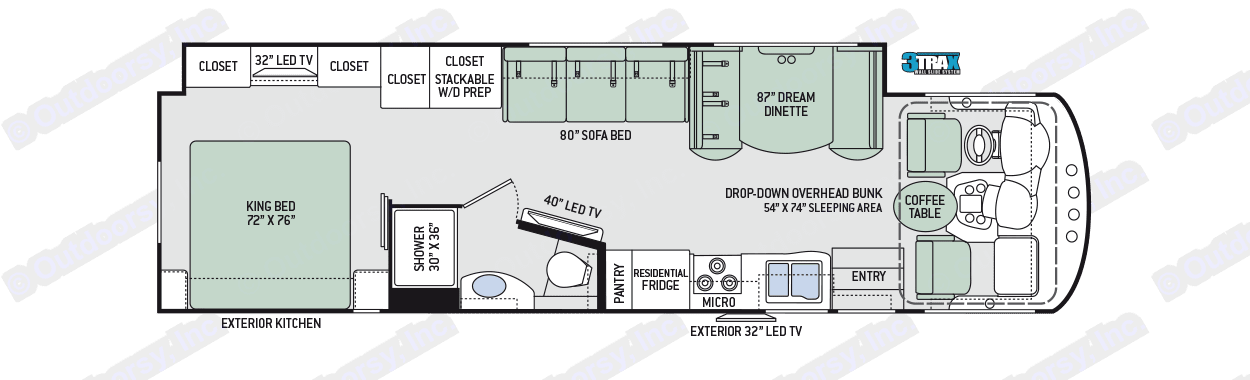 This is the floor plan. Spacious all over!. Thor Motor Coach Miramar 2017