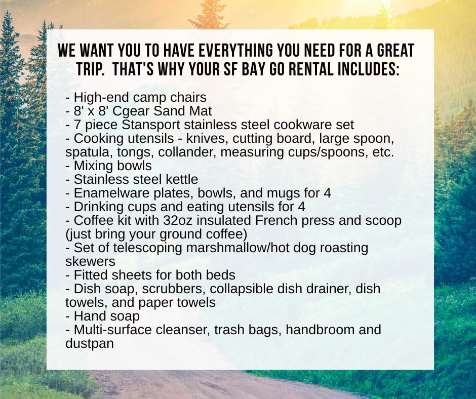 We include everything you need for your trip including a Cgear Sand Mat rug and high-end camp chairs.. Winnebago Other 2021
