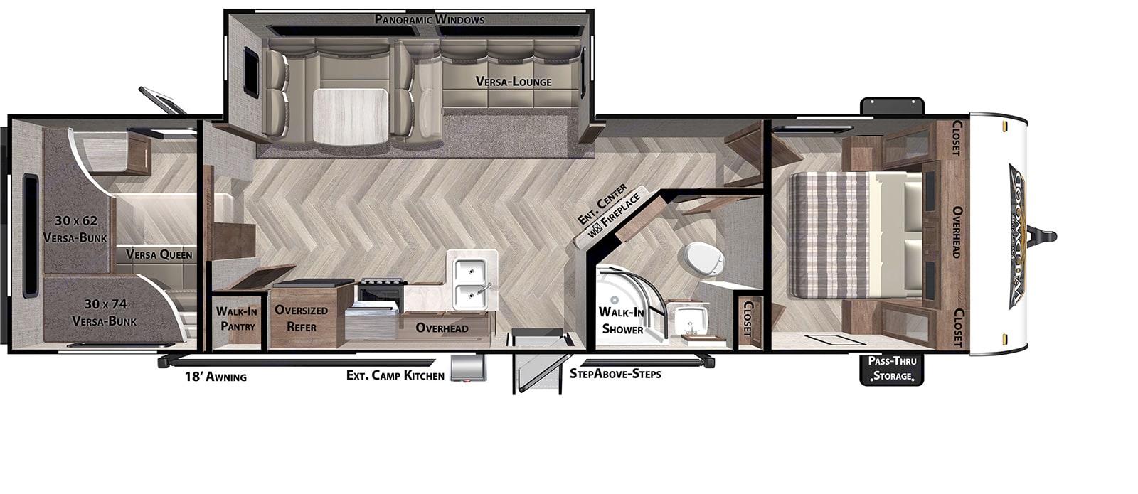 Large space, bunks, and room to make memories.. Wildwood 29VBUD 2021