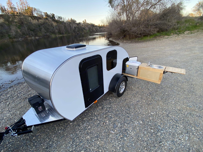 The galley. Custom Teardrop Camper 2021