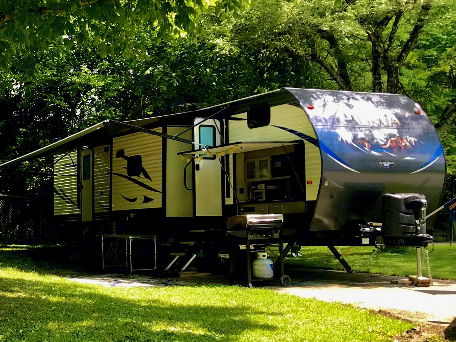 Our Puma on our favorite campsite :). Palomino Puma 2019