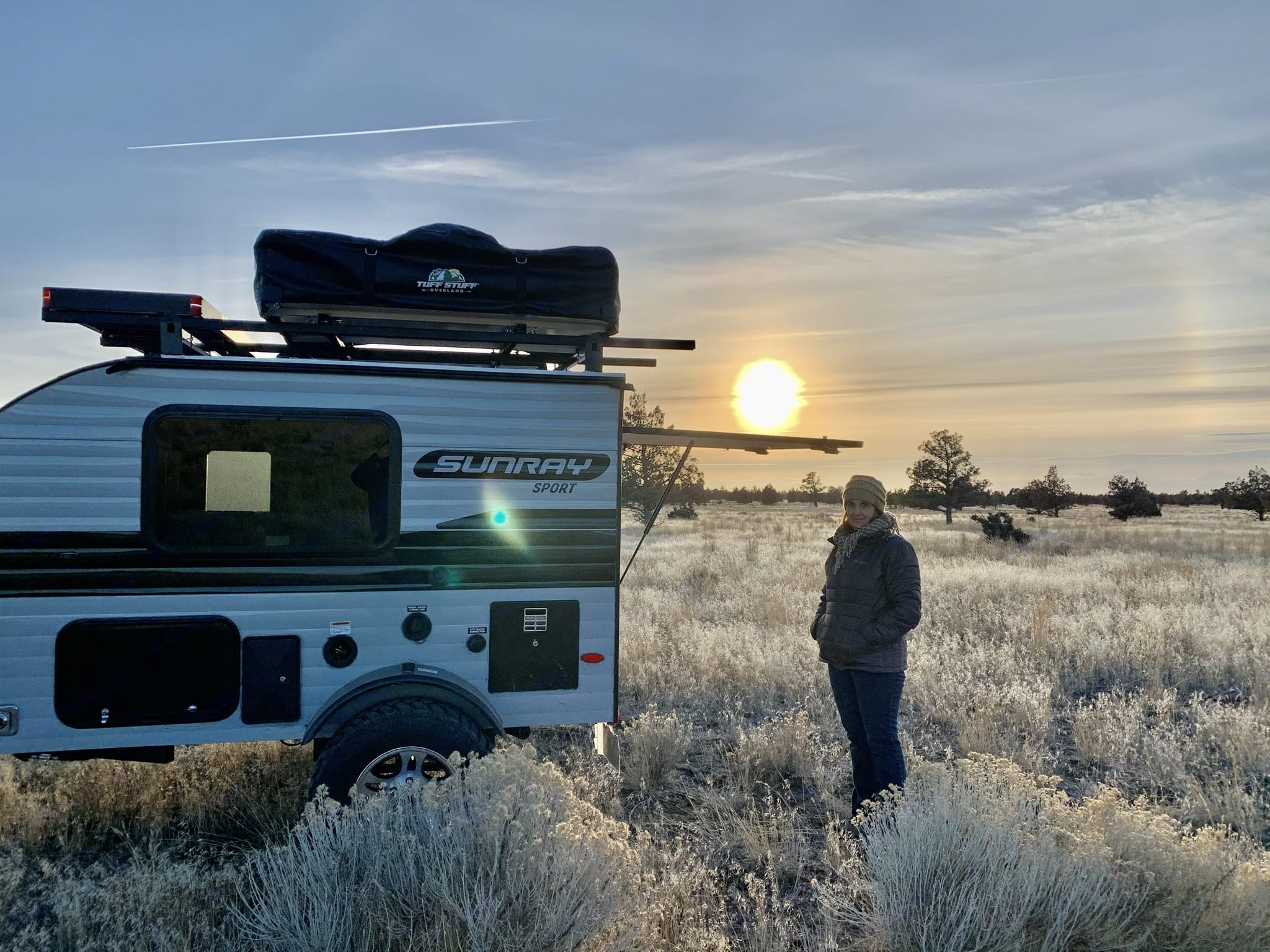 Explore your adventure in this 1280 lbs off grid solar equipped RV.  Sleeps 6 adults with RTT annex.  Craft your adventure. . Sunset Park & Rv Inc. Sunray 109 Sport 2021