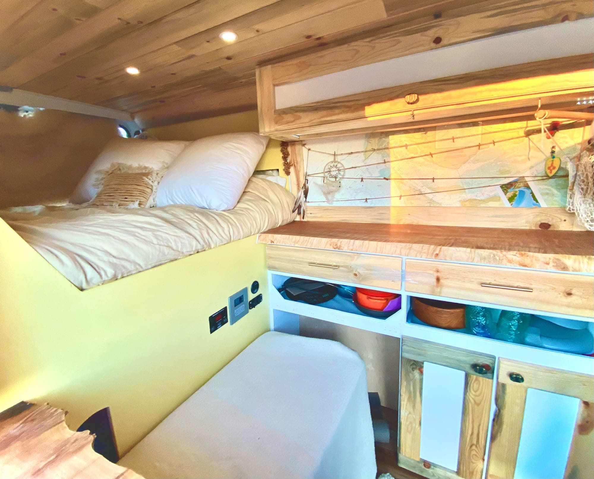 Creative, whimsical, and highly functional! Lovely woodwork with natural edge counter tops, faerie lights, ample storage. Ultra-dreamy mobile retreat!. Dodge Other 2019