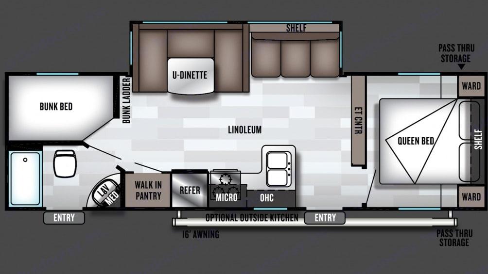 Floorplan. Forest River Salem Cruise Lite 2019