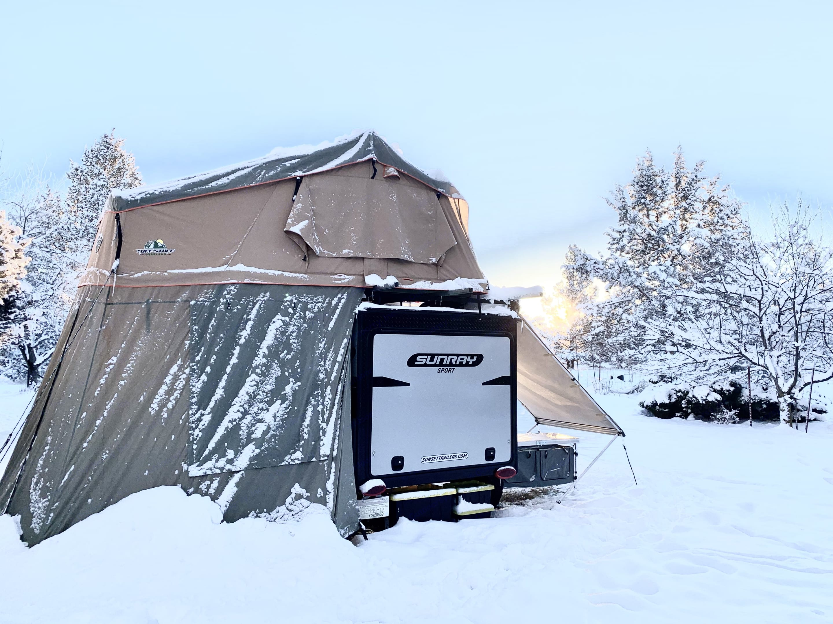 We've tested it in four seasons! Onboard heater - big difference.  With the Annex, Awning and RV interior there's plenty of space to escape inside. . Sunset Park & Rv Inc. Sunray 109 Sport 2021