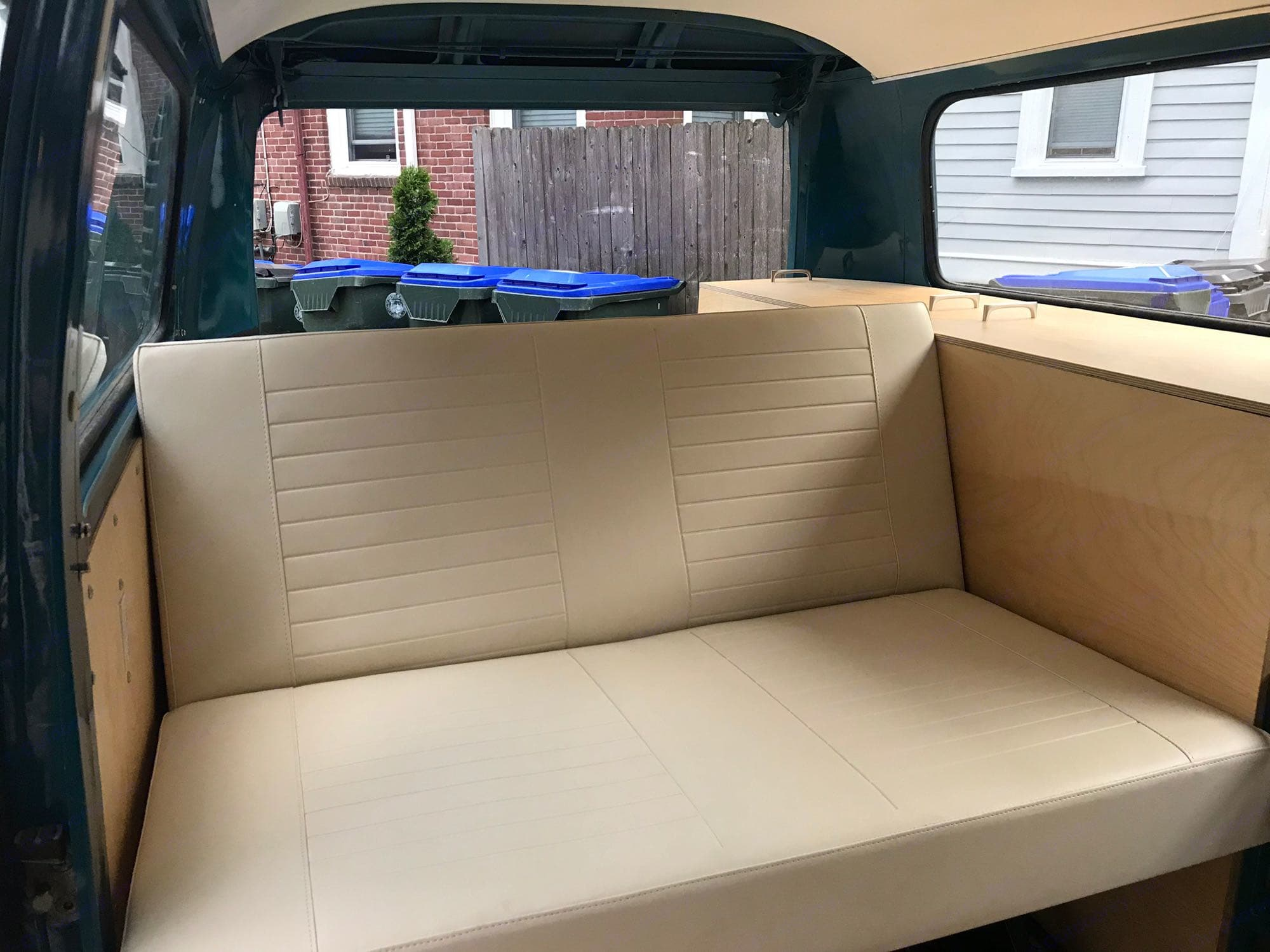 """PLEASE NOTE: This is just an example of the type of interior that will be installed in """"Alice"""". Volkswagen Kombi Surf Bus 1973"""