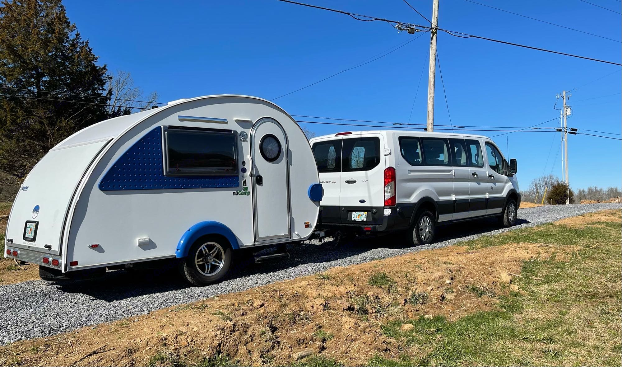 pulled by Ford Transit (also for rent) or your own car. very light weight.. T@B Bathroom 2019