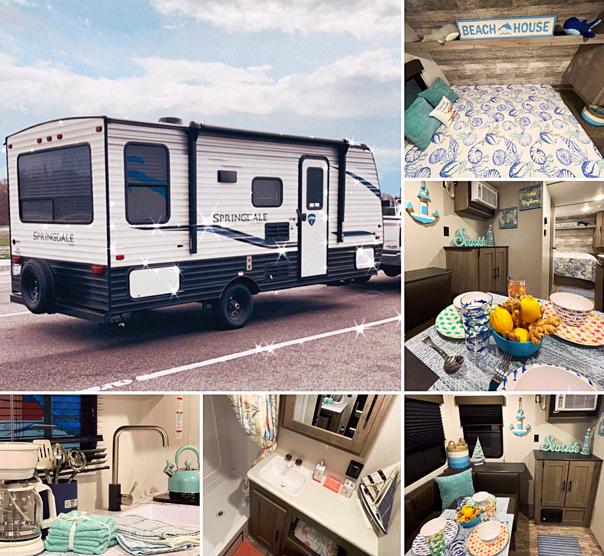 """Amazing travel trailer """"Lord of the seas' is ready to adventures! We take care about everything for you. Enjoy your travel with out trailer!. Keystone Springdale 2021"""
