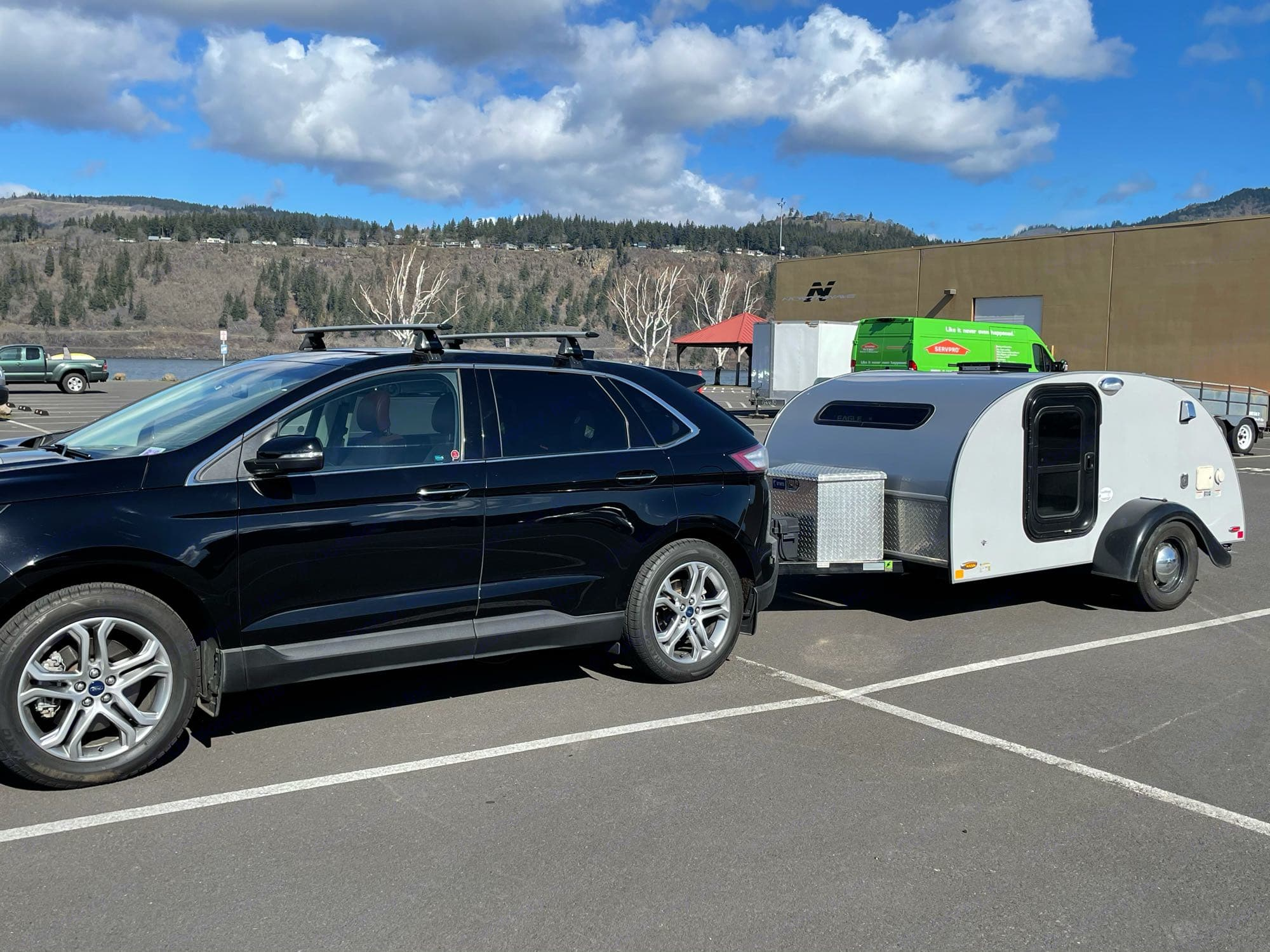 Dragged is minimized when your trailer matches the height and width of the vehicle. Little Guy Silver Shadow 2016