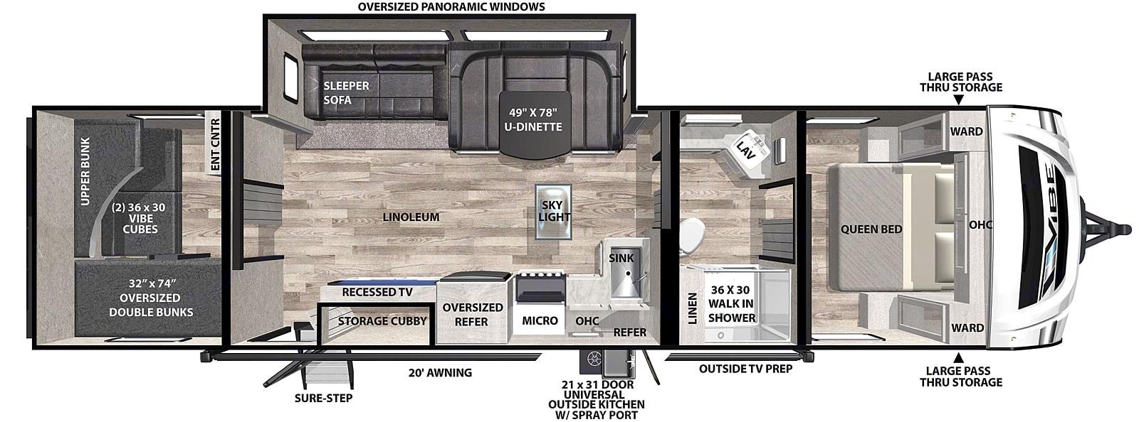 Floorplan. Forest River Vibe 2021