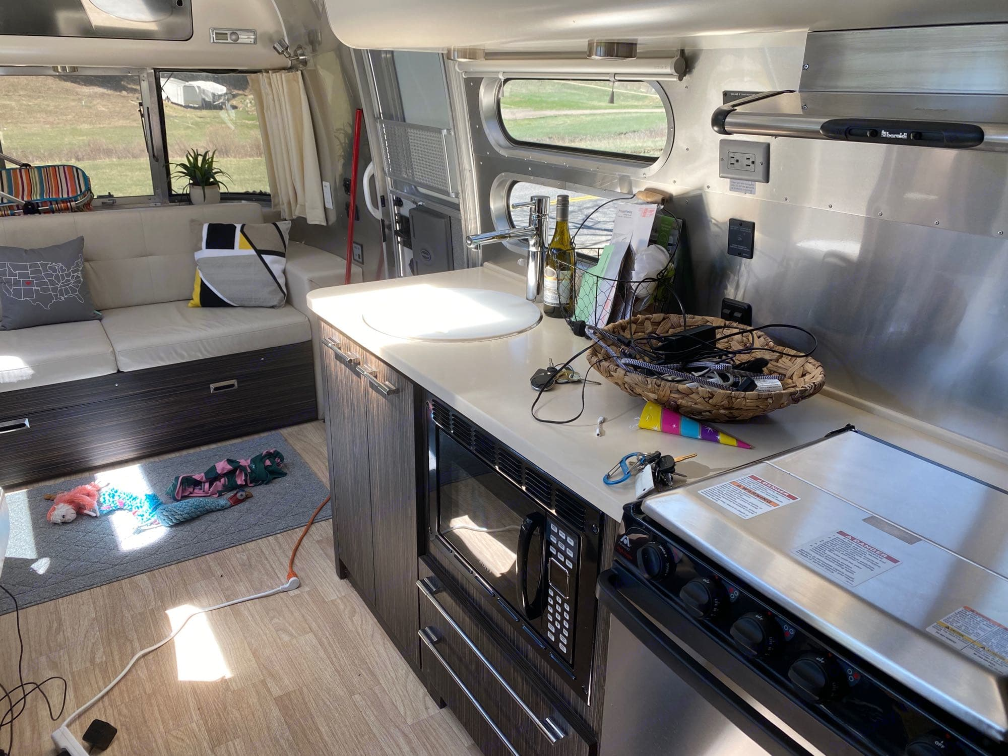 Vacation ready kitchen!. Airstream International 2015
