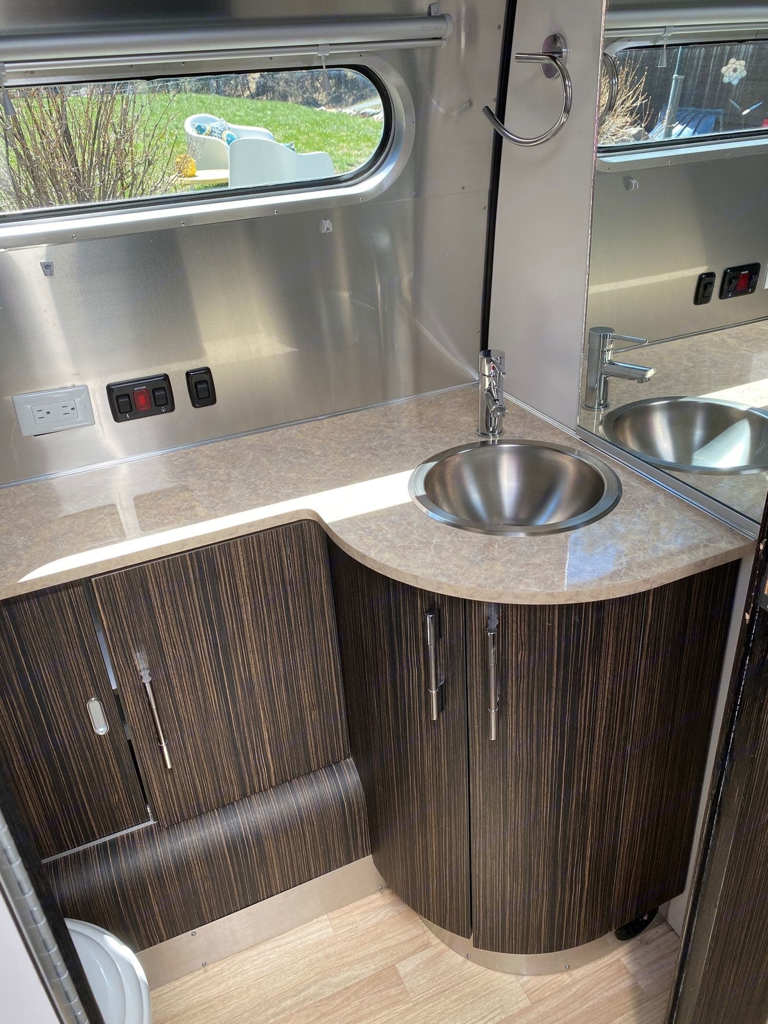 Spotless bathroom. Airstream International 2015