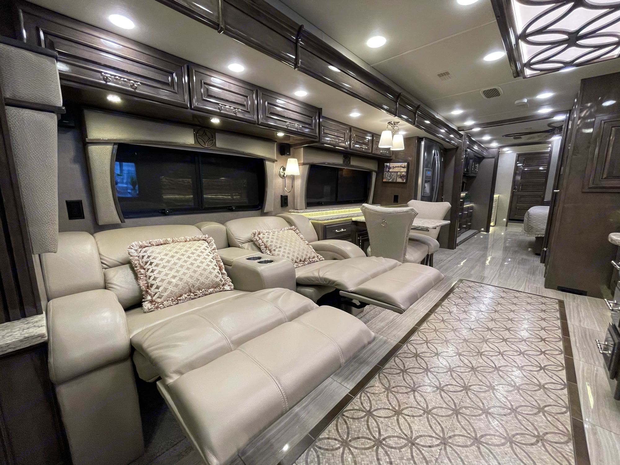 Entertainment seating.. Entegra Coach Cornerstone 2019