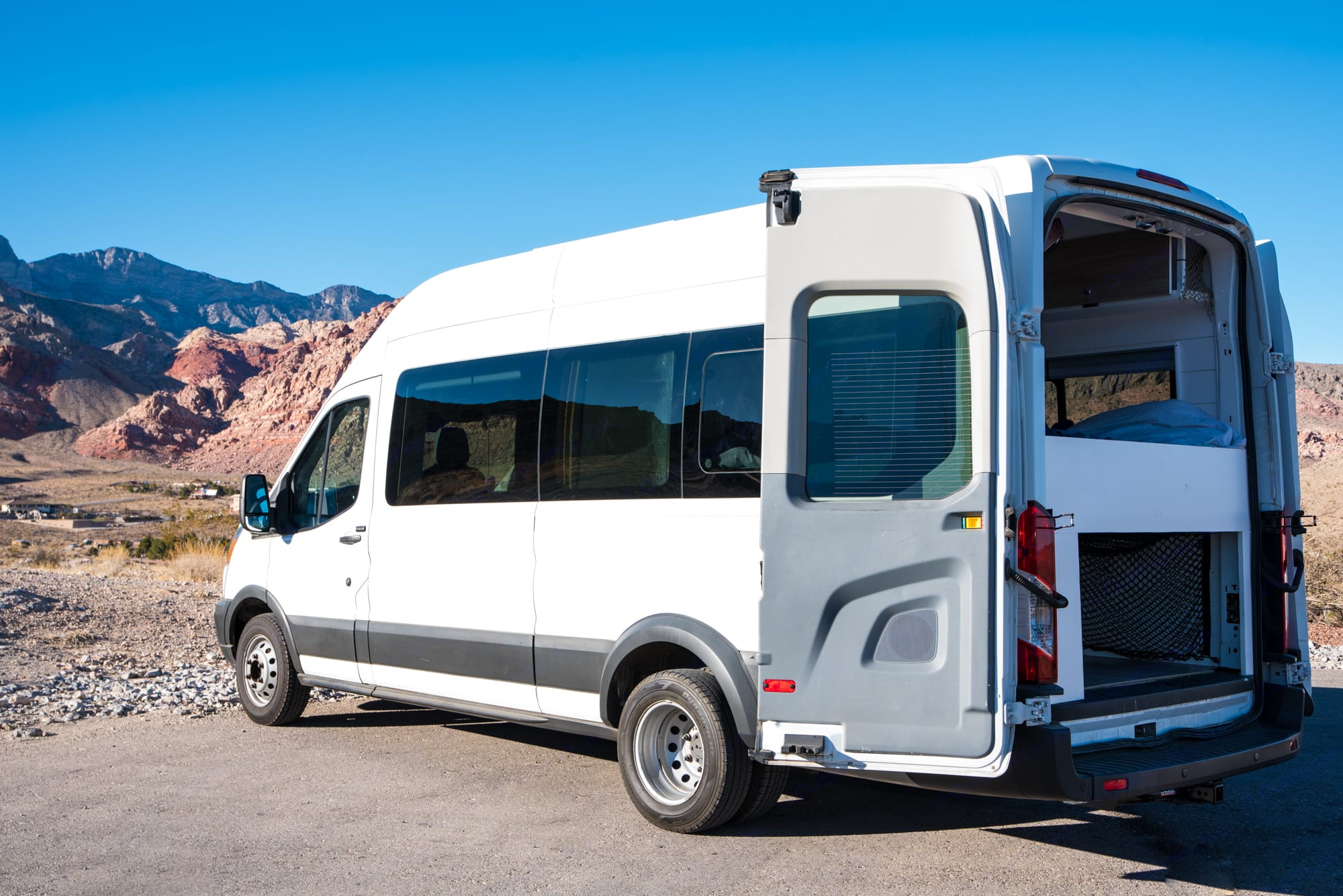 The windows all around mean you get great views also when inside the van. . Ford Transit 2016