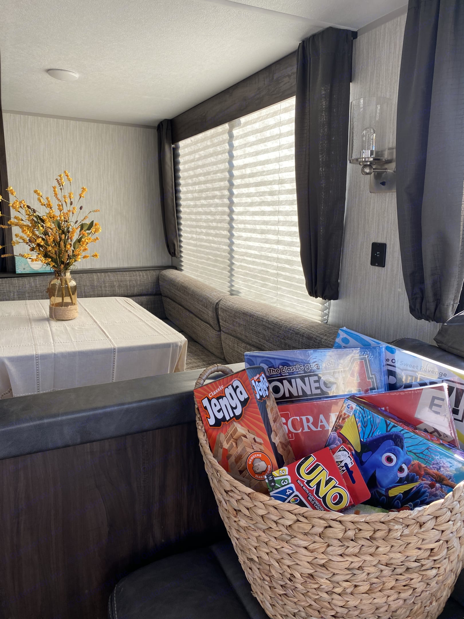 We stock our camper with fun family games just in case you are needing some down time after your adventure. . Forest River Cherokee 2019