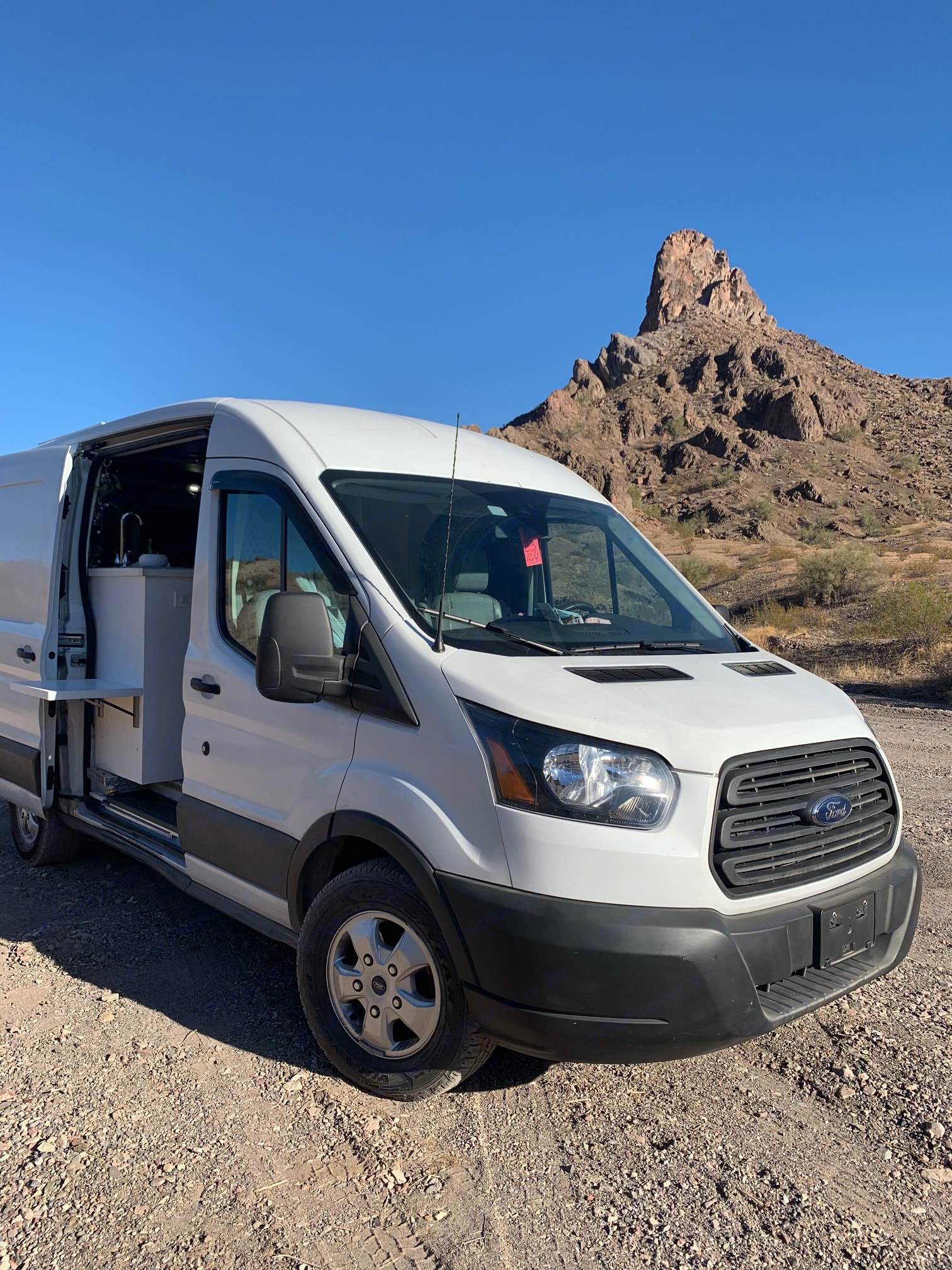 Catching rays for days. Ford Transit 2017