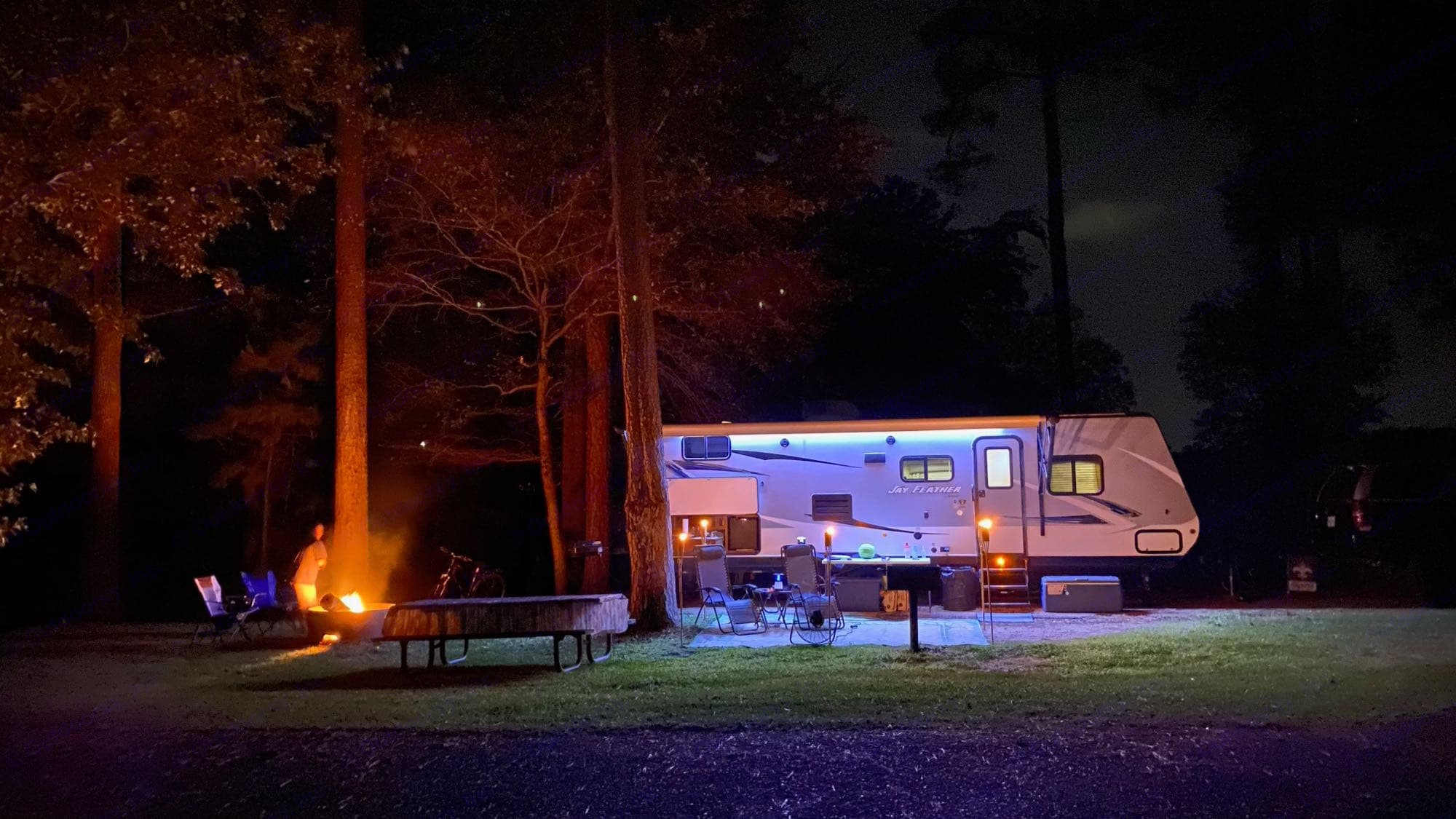 Amazing photo taken by our first renter!  This can be your reality!. Jayco Jay Feather 2017