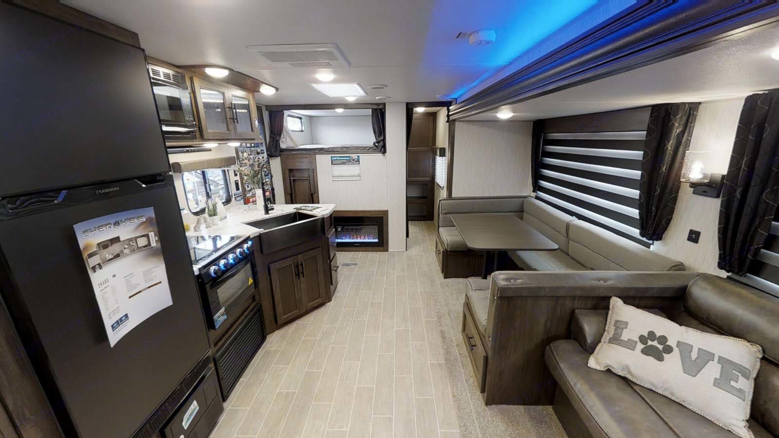 Stock interior photo for now.. Forest River Cherokee 2021