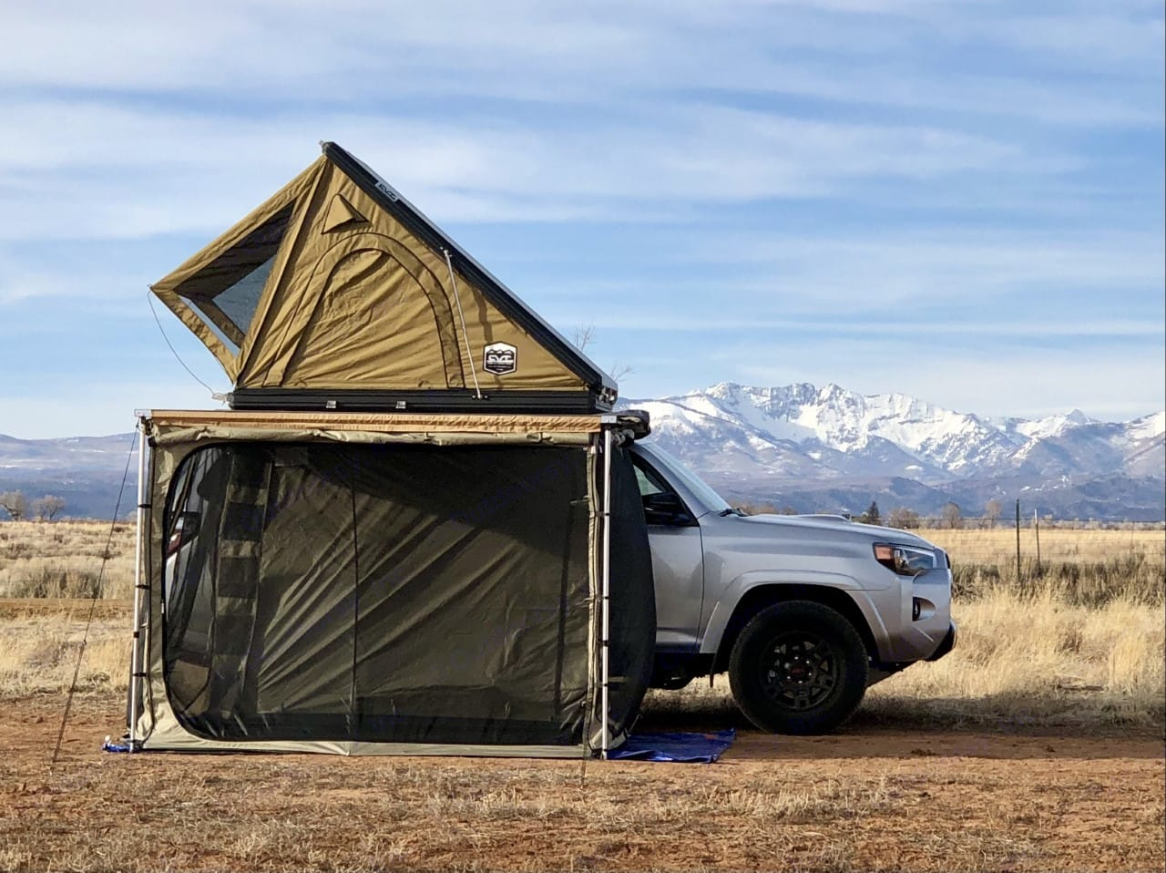 Optional awning enclosure makes for more living space!. Custom Camper 2021