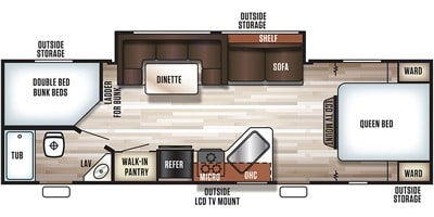 Nice Queen size bed and bunk beds.. Forest River Cherokee Grey Wolf 2018