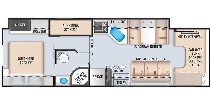 Floorplan . Thor Motor Coach Chateau 2021