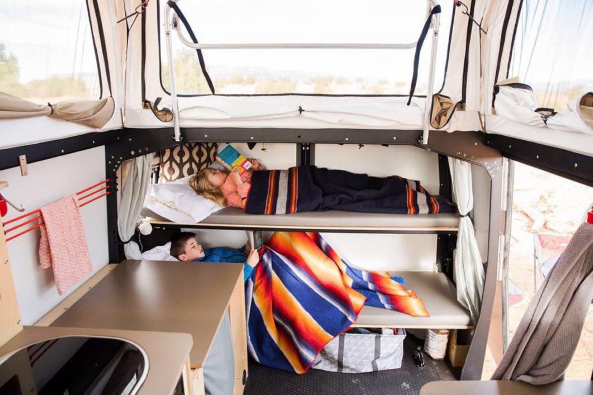 front bunks - internet photo. TAXA Outdoors Mantis Camper 2019
