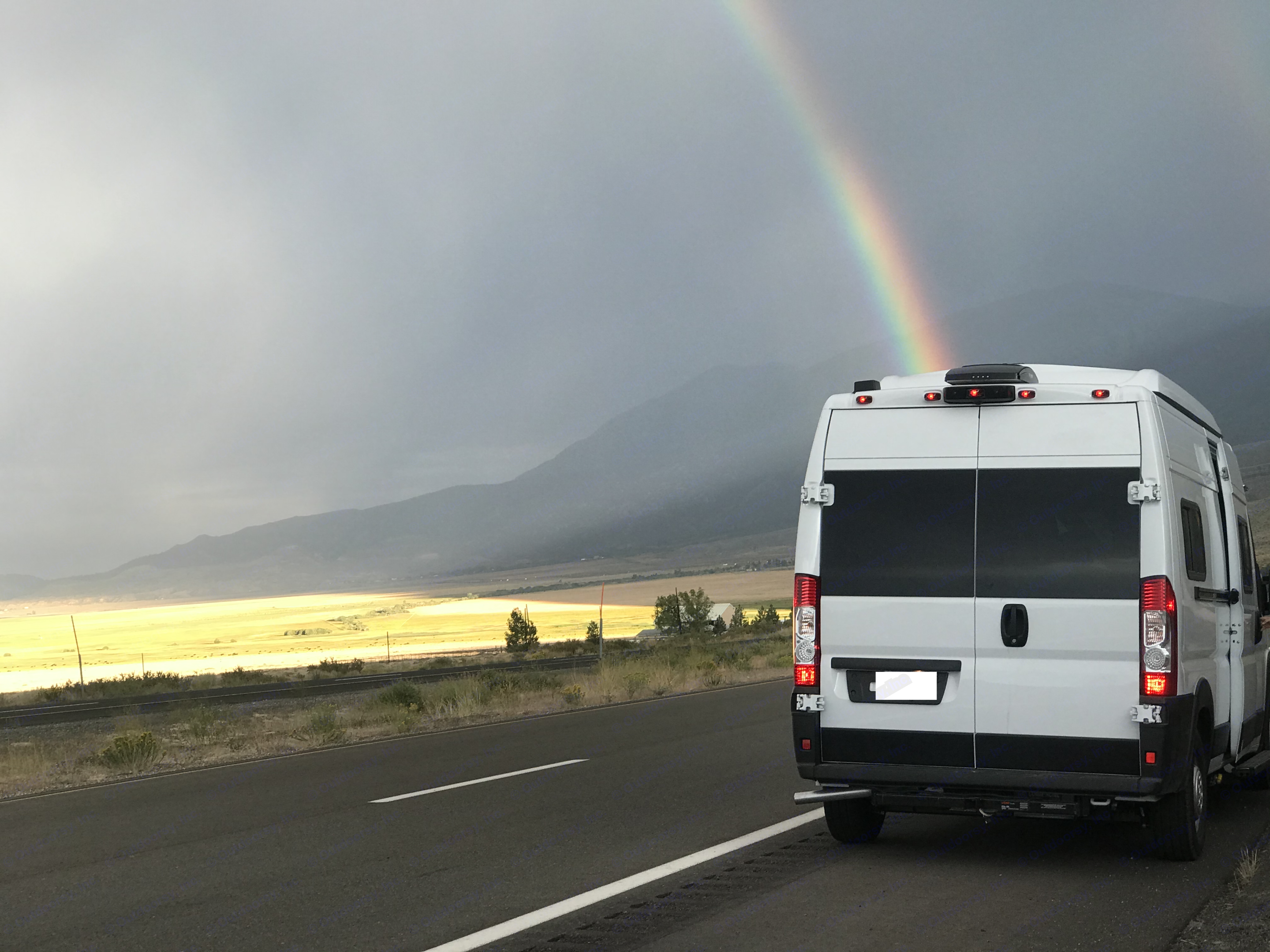 Tracking down atmospheric effects around the Great Basin. Winnebago Solis 59P 2021
