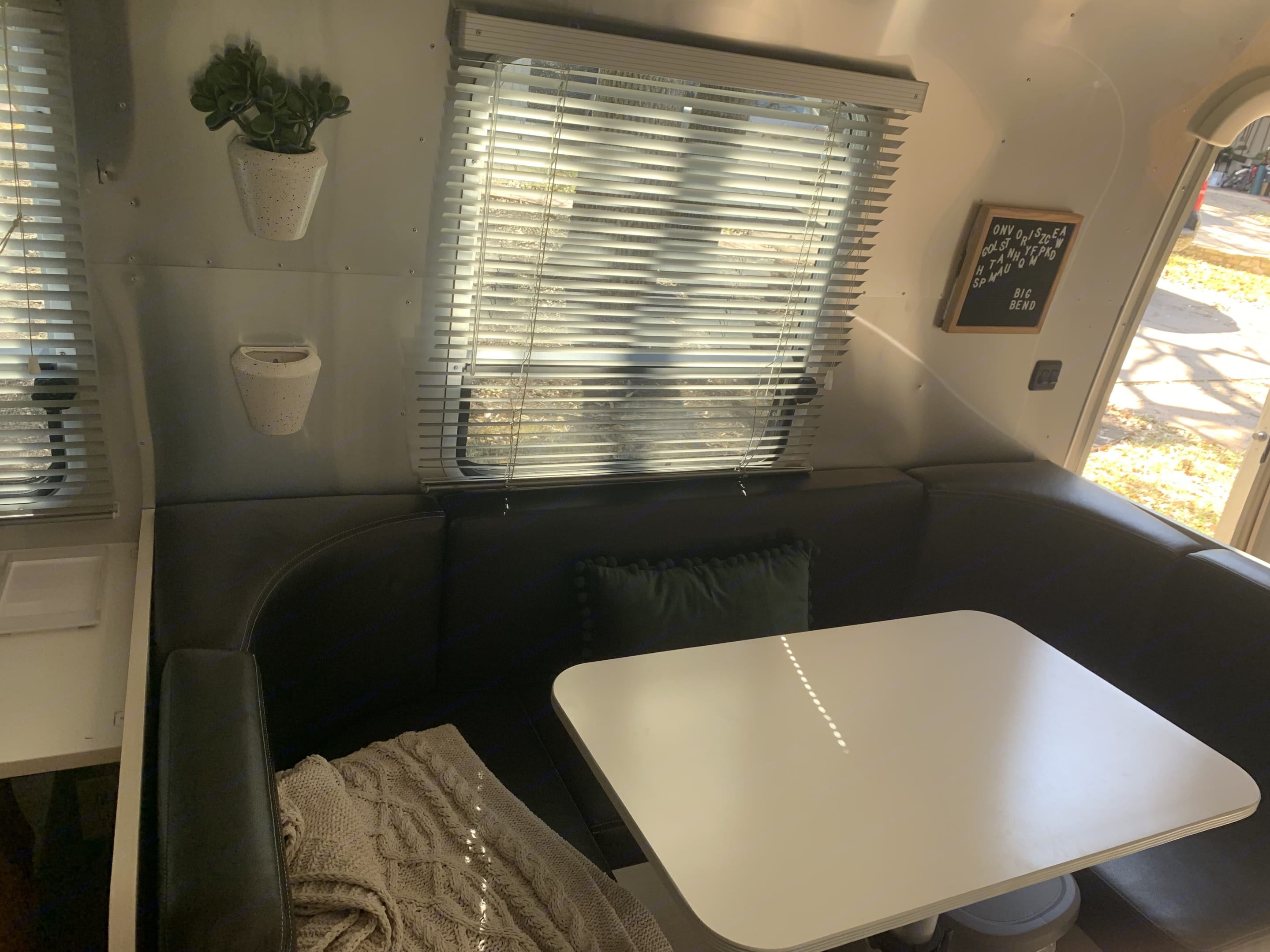 Also coverts to a dinette- we have used as a giant dog bed in the past as well!. Airstream Sport 2016