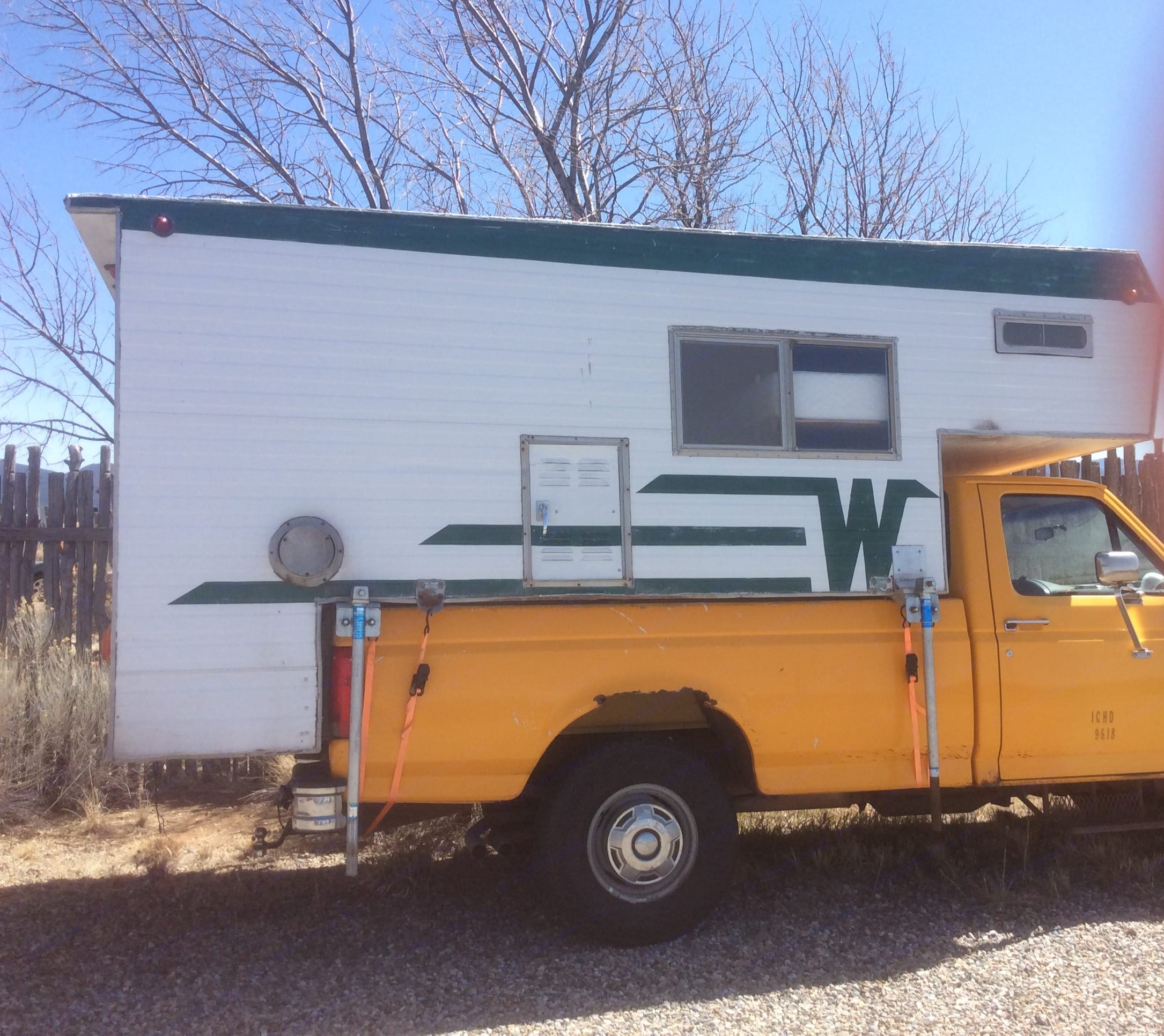 Ford F250 HD truck takes you where you need to go. . Winnebago Ford F250 1964