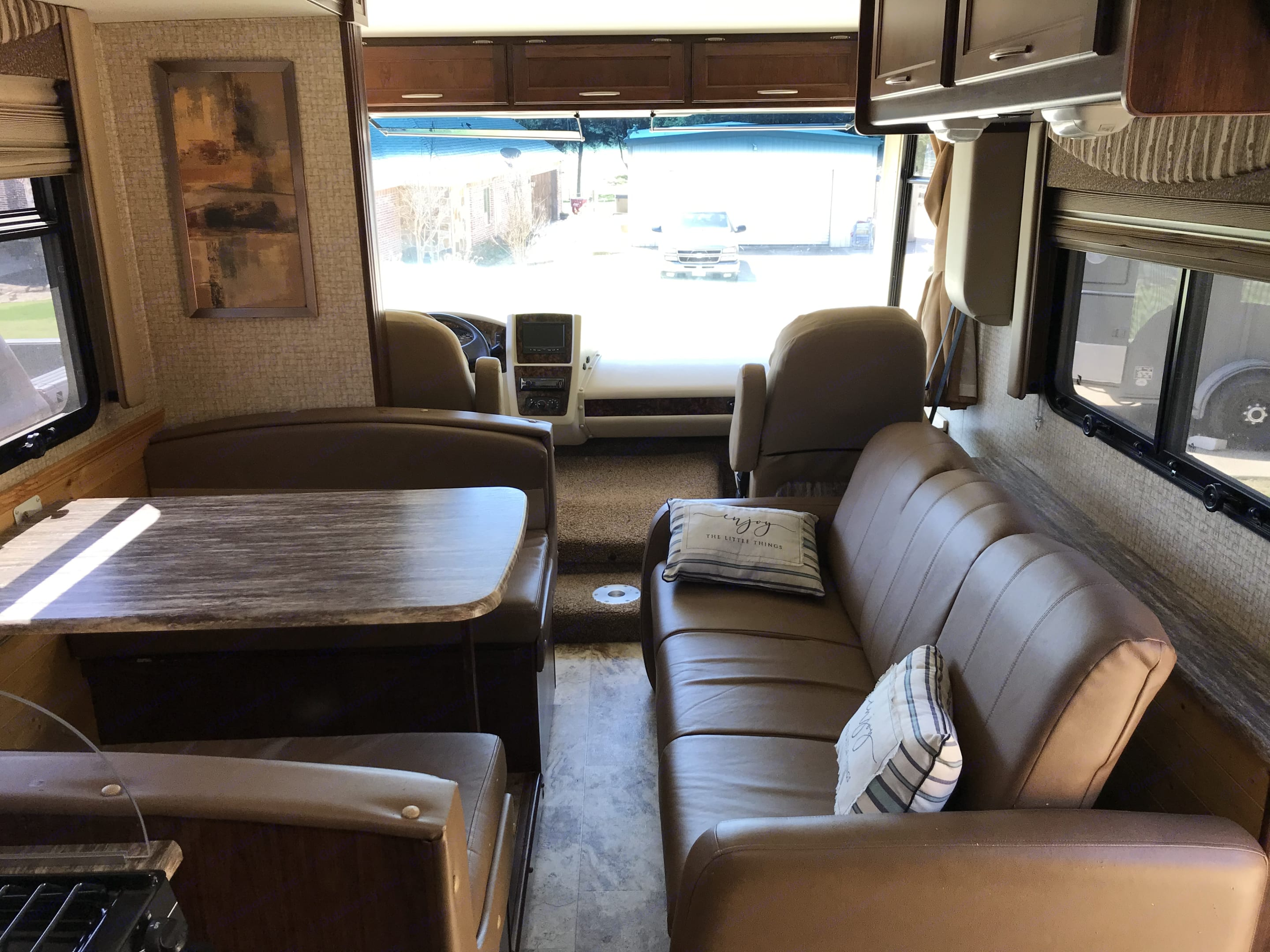 Sitting area. This shot is before the slide out is engaged.. Coachmen 29SB 2016