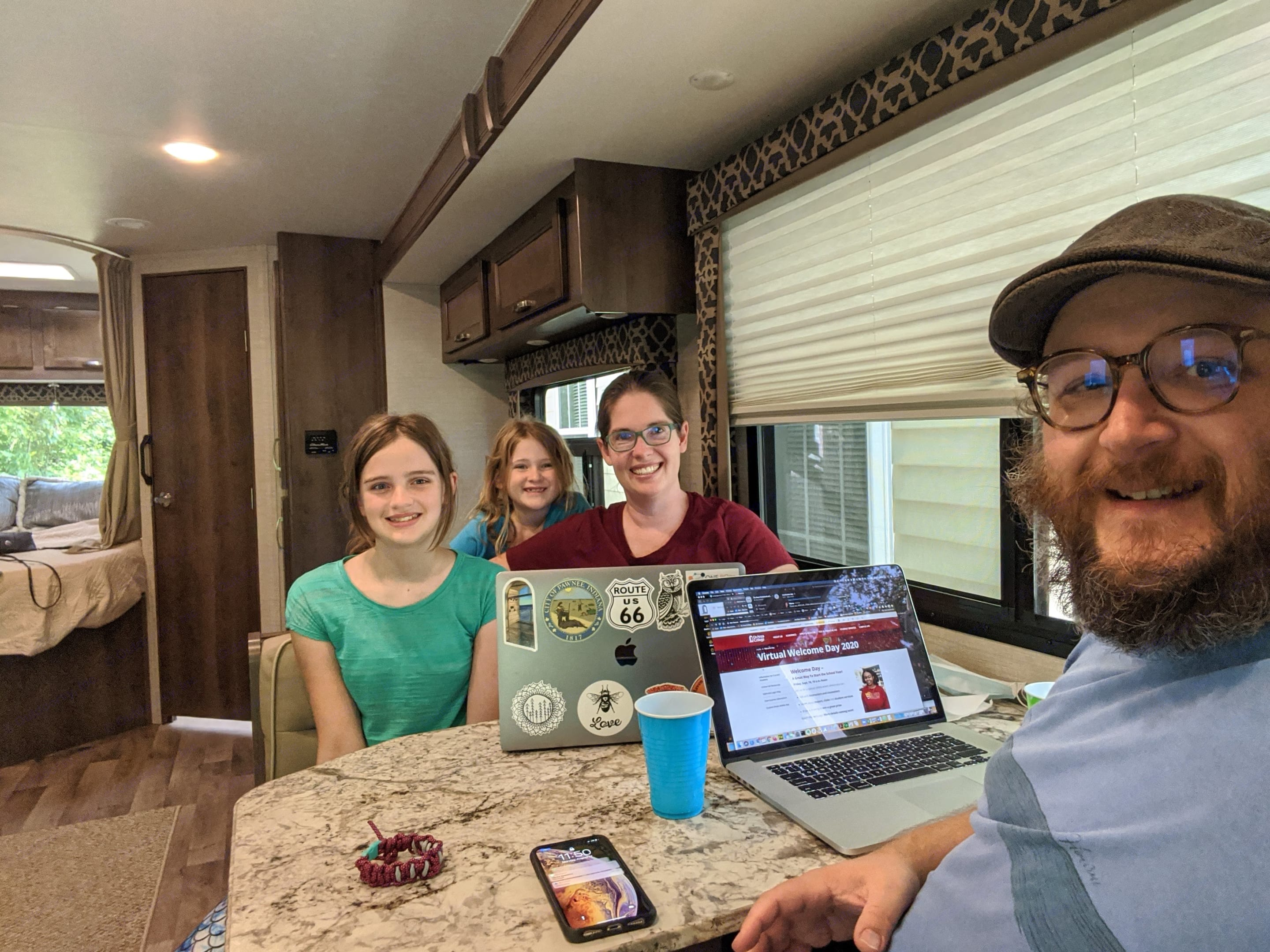 """The RV make a great """"work from anywhere"""" and distance learning solution. . Jayco Redhawk 2020"""