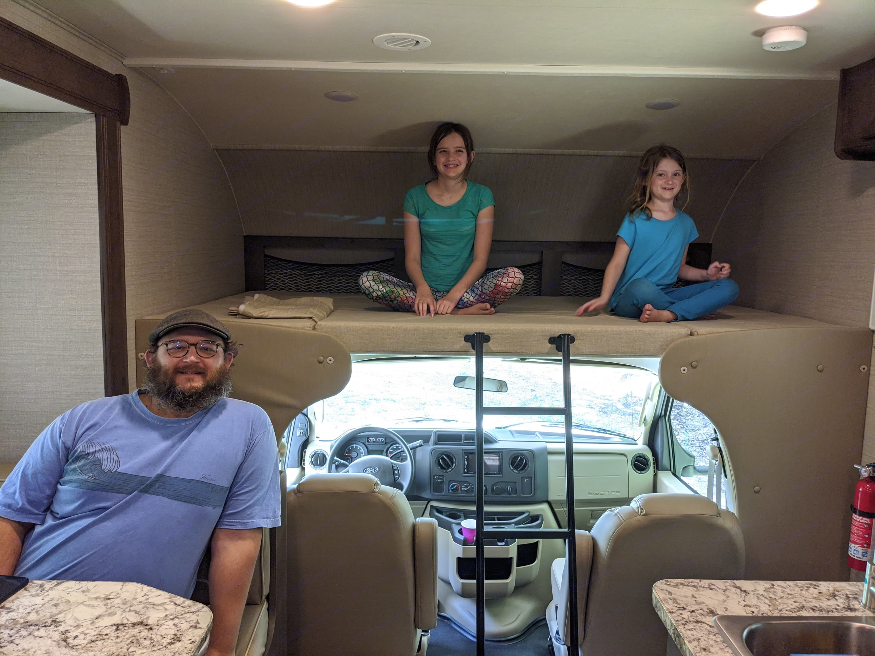 The bunk over cab is a lot of fun for kids. It supports up to 750 pounds, so it is also great for adults. . Jayco Redhawk 2020