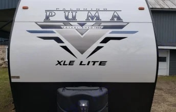 Front of camper. Forest River Puma XLE 2021