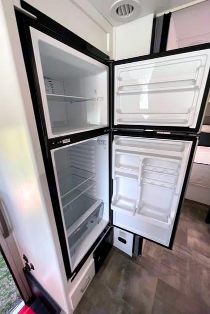 Very Spacious fridge and freezer. Coachmen Pursuit 2021