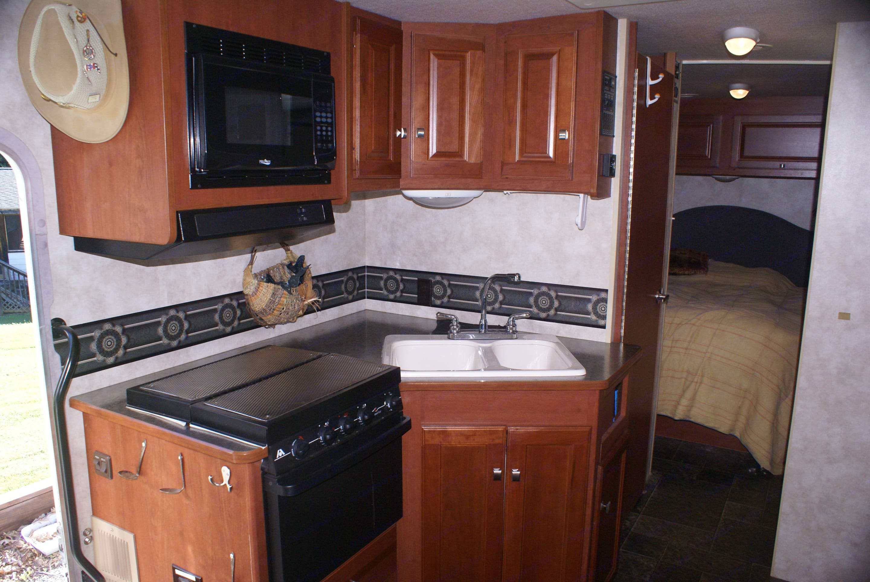 Beautiful Kitchen. disinfected for your protection. Winnebago Vista 2013