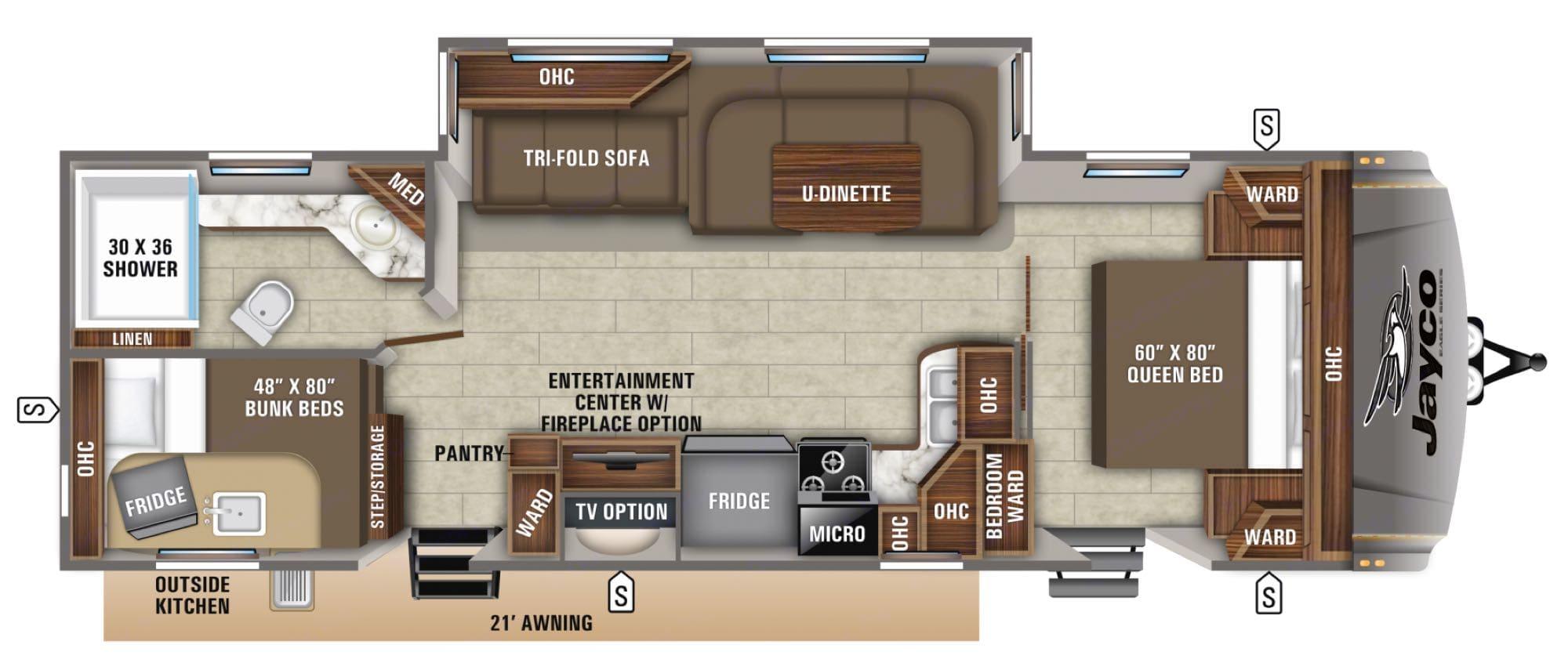 factory floor plan print. Jayco EAGLE 2020