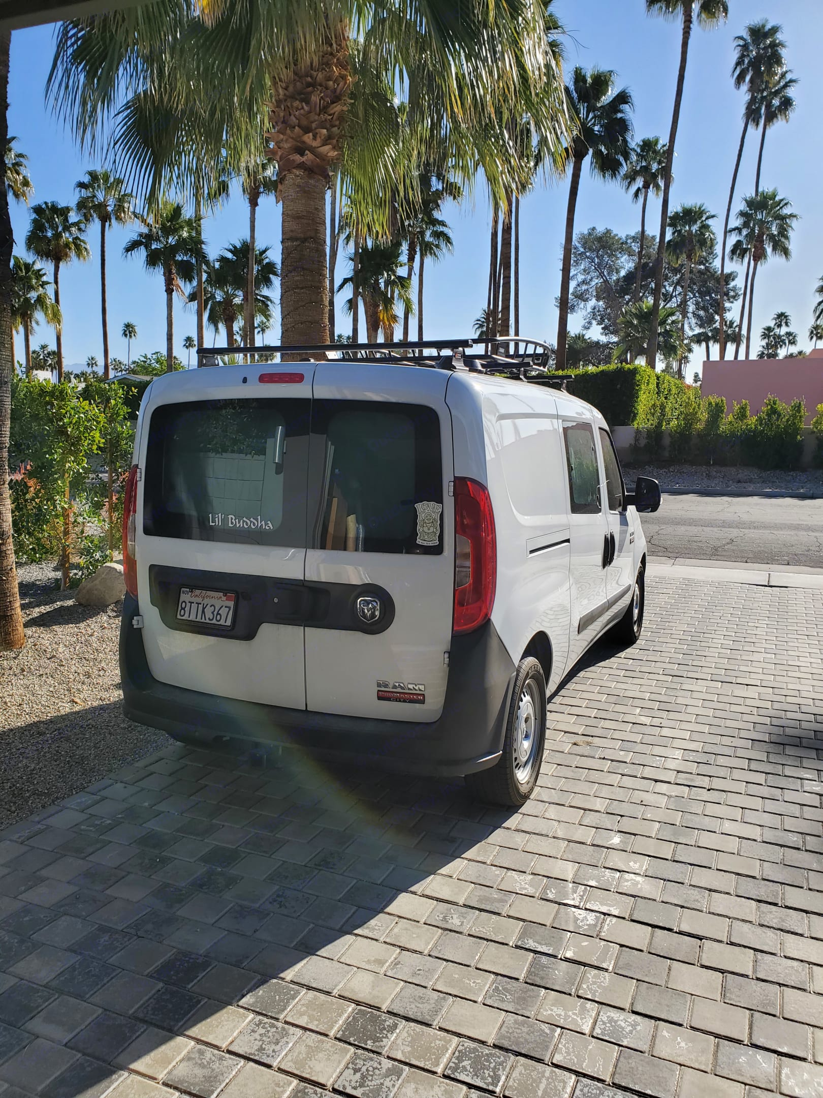 Looking at the back of the Van. Dodge Promaster City 2019