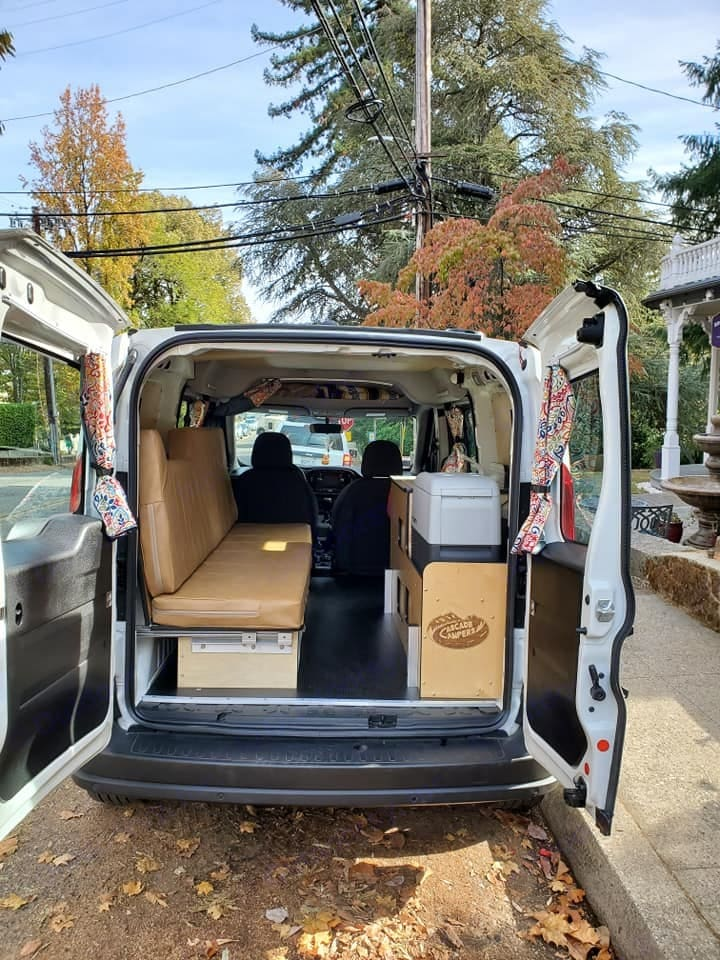 Looking in the van from the back doors.. Dodge Promaster City 2019
