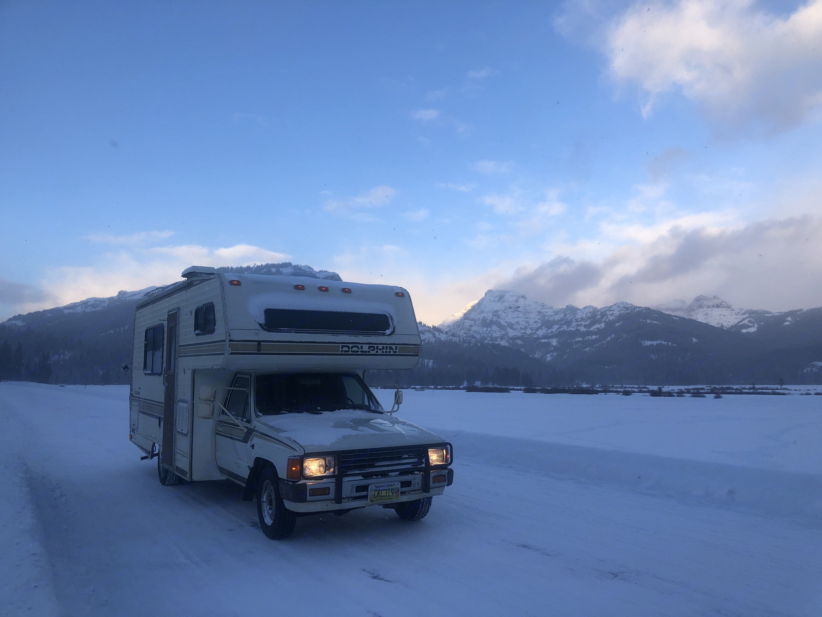 Backcountry ski trip to Cooke City 2021. National Dolphin 1986