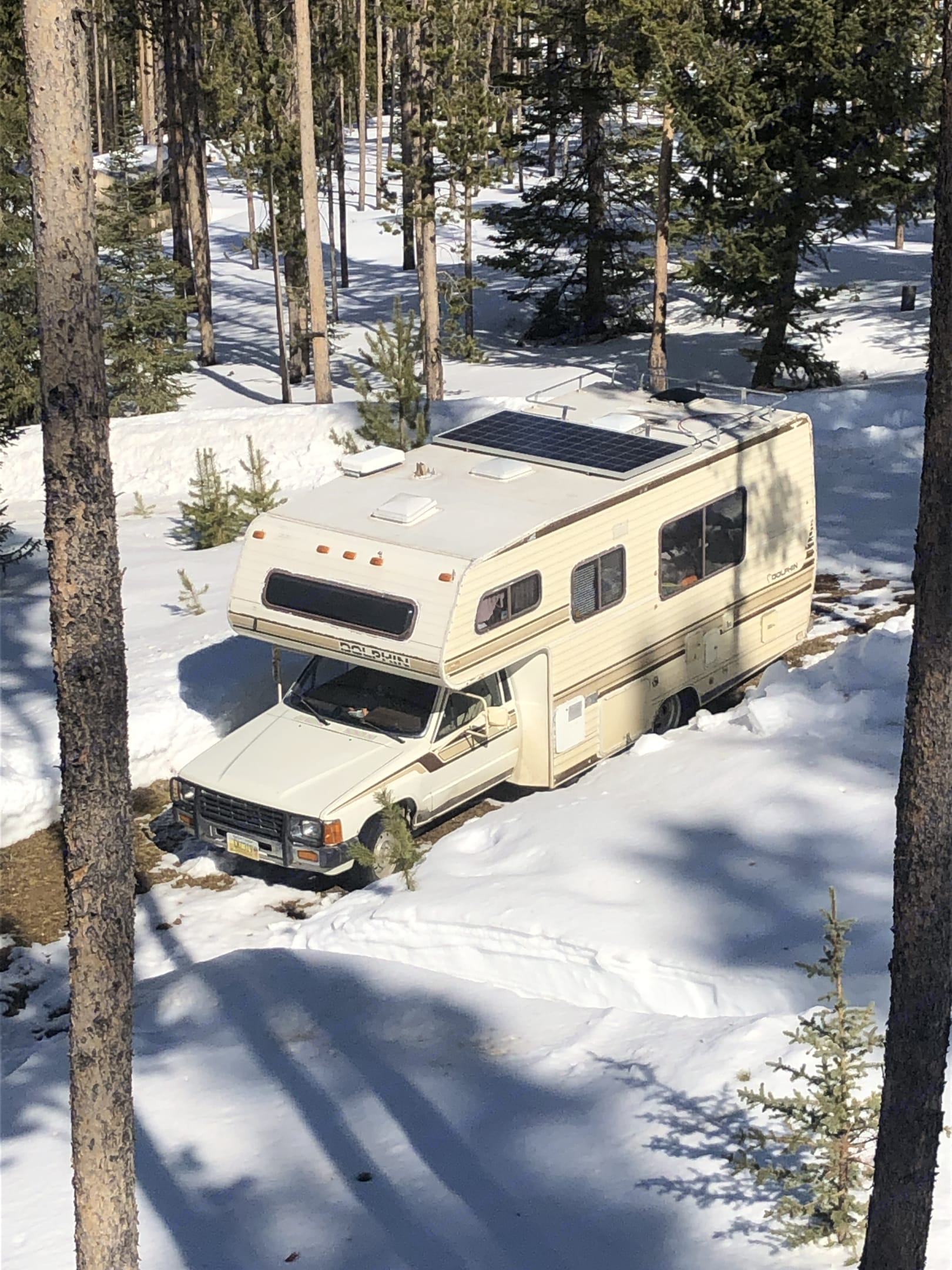 Winter camping at Georgetown Lake, MT. National Dolphin 1986