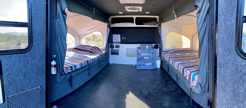 Very spacious for such a small trailer, plenty of storage. . InTech RV Explorer 2019