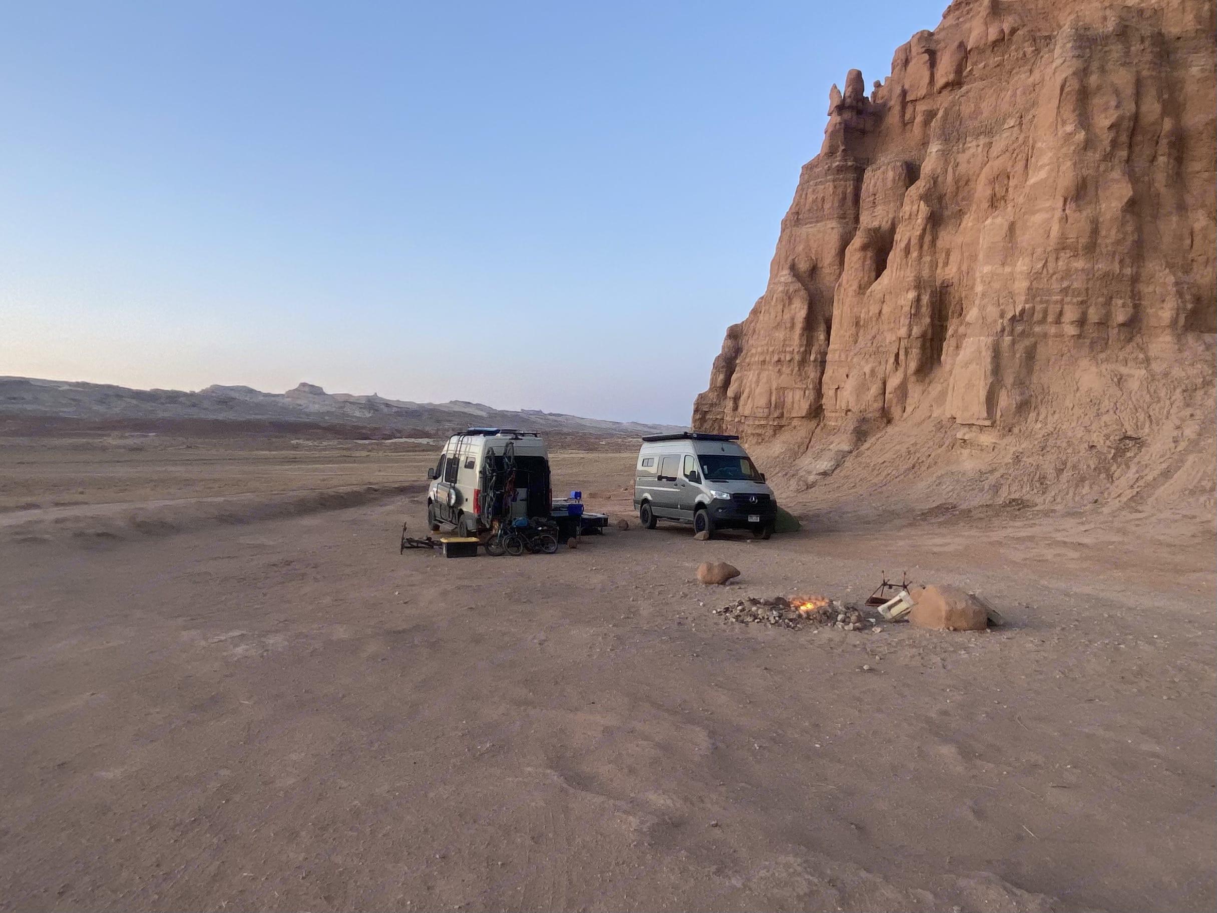 Dispersed camping in San Rafael Swell.. Mercedes SPRINTER 2020