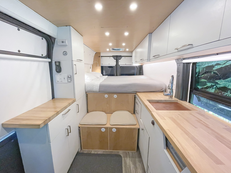 Updated interior photo as of April 2021.. Custom Camper 2019