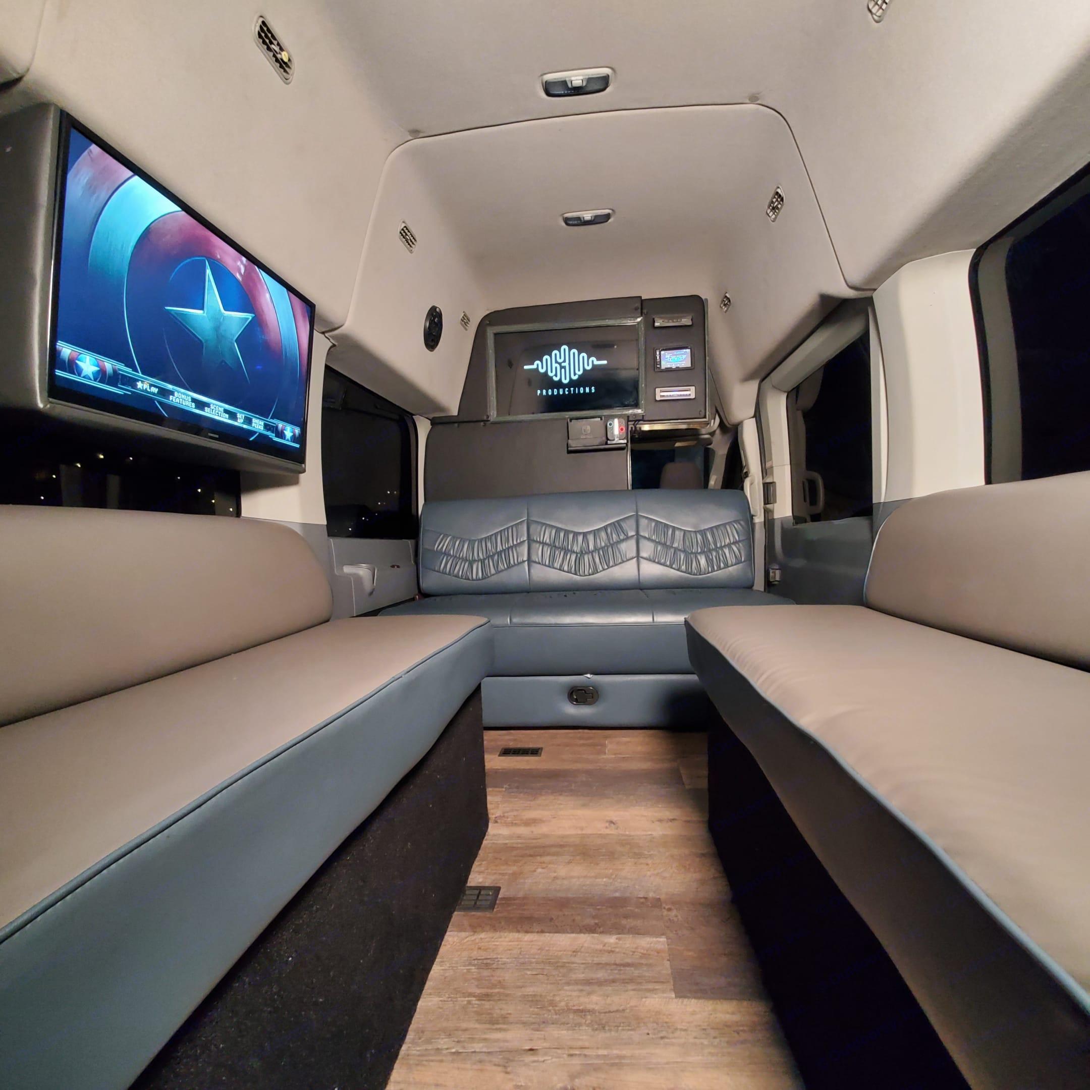 Side Sofas, Tv's, Front Sofa. Ford Custom Transit 2017