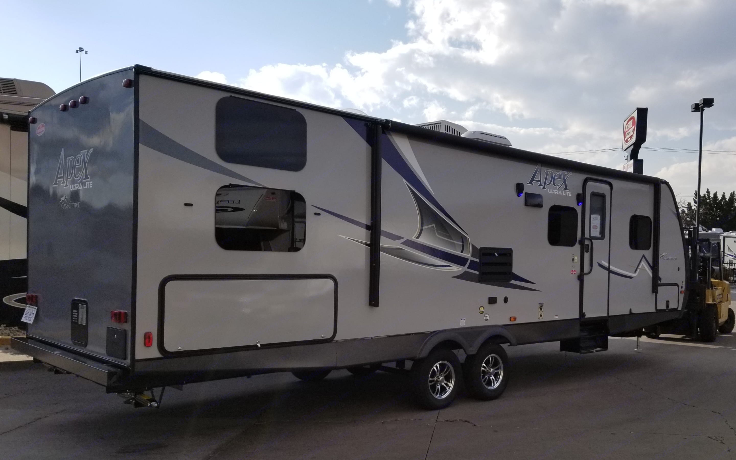 There she is in her full glory!. Coachmen Apex 2018