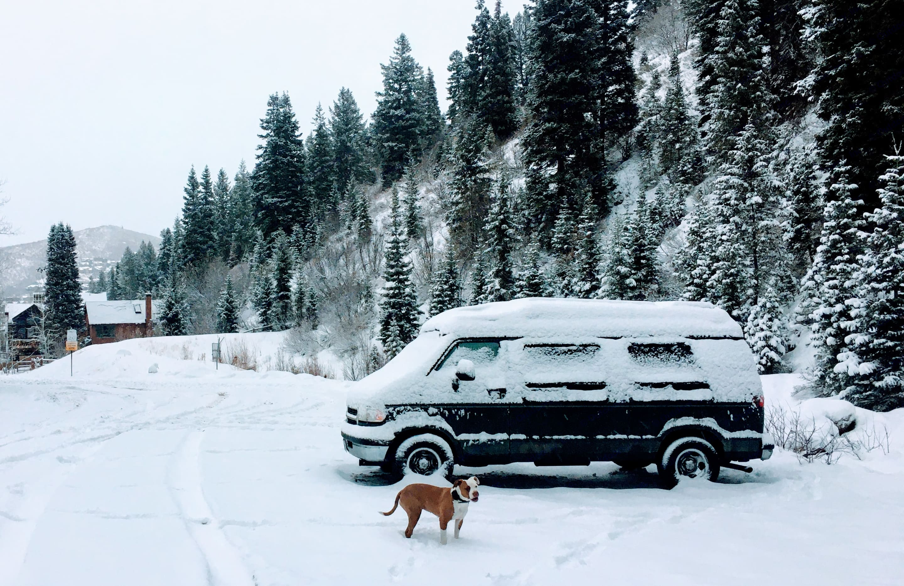 Get lost in a winter wonderland - Ramsie won't leave you stranded. Snow chains included!. Dodge Ram 2500 Van 1997