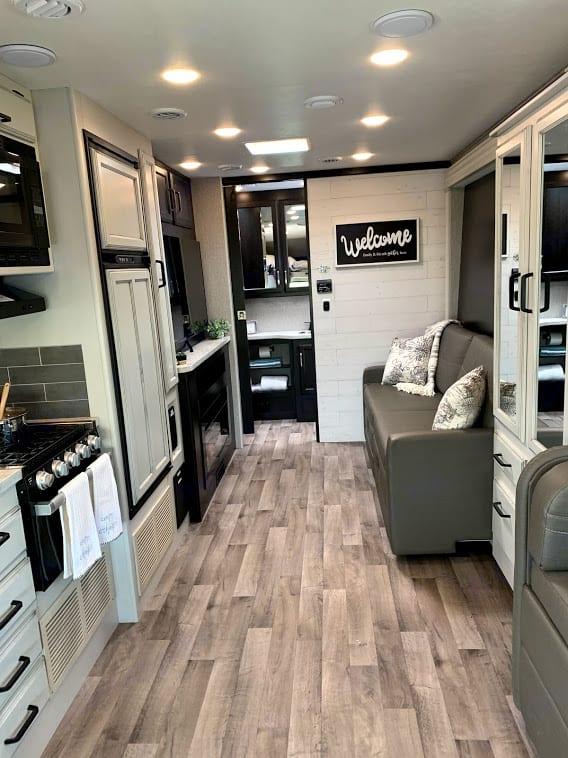Sofa/living area. Jayco Redhawk 26M 2021